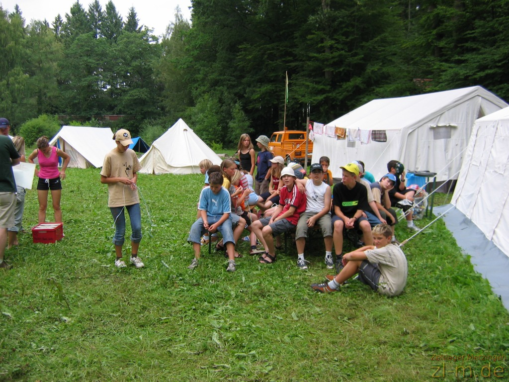 Zeltlager Boni-Arche-Camp 2004: Die Workshops beginnen...
