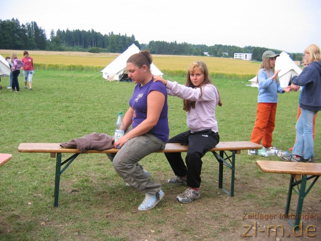 Zeltlager Boni-Arche-Camp 2008: Massagerunde